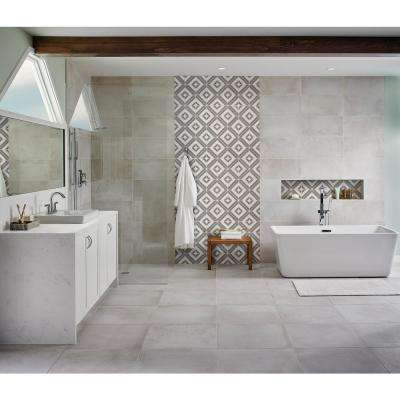 Rhombix Dove 12 in. x 12 in. x 10mm Polished Marble Mesh-Mounted Mosaic Tile (10 sq. ft. / case)