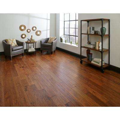 Distressed Kinsley Hickory 3/8 in. Thick x 5 in. Wide x Varying Length Click Lock Hardwood Flooring (26.25 sq. ft./case)