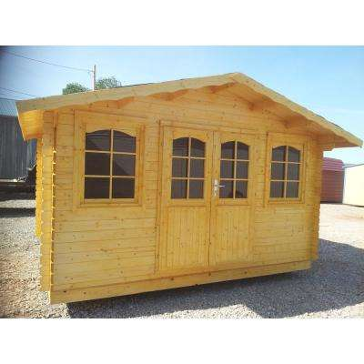 Hoby Nervion 12 ft. 5 in. x 9 ft. 8 in. Log Garden House