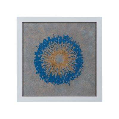 "22 in. x 22 in. ""Royal Nova"" Framed Hand Painted Paper Under Glass Wall Art"
