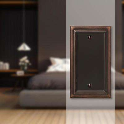 Continental 1 Gang Blank Metal Wall Plate - Aged Bronze
