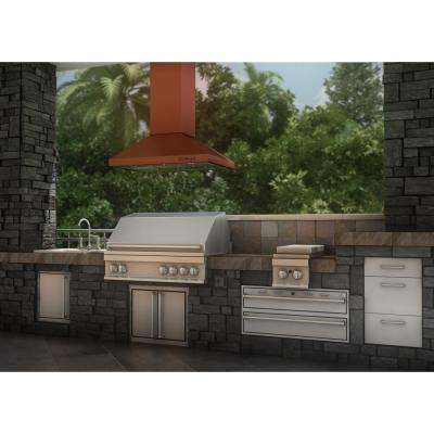 ZLINE 36 in. 760 CFM Designer Series Copper Island Mount Range Hood
