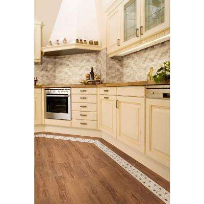 Parkwood Beige with Cherry Dot 12 in. x 12 in. x 6.35 mm Ceramic Pinwheel Mosaic Floor and Wall Tile (1 sq. ft. / piece)