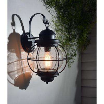 Hatteras 1-Light Black Large Wall Lantern