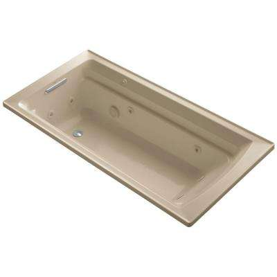 Archer 6 ft. Acrylic Rectangular Drop-in Whirlpool Bathtub in Mexican Sand