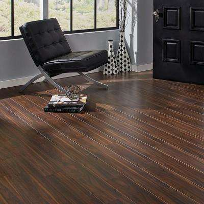 Textured Walnut Morningside 12 mm Thick x 5.59 in. Wide x 50.55 in. Length Laminate Flooring (15.70 sq. ft. / case)