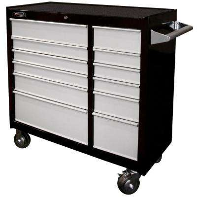 SE Series 41 in. 12-Drawer Rolling Cabinet Black and Gray