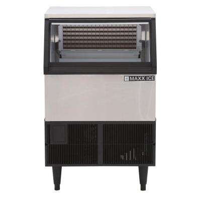 250 lb. Freestanding Icemaker in Stainless Steel