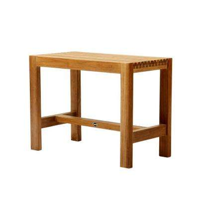 24 in. W Fiji Bathroom Shower Bench in Natural Teak