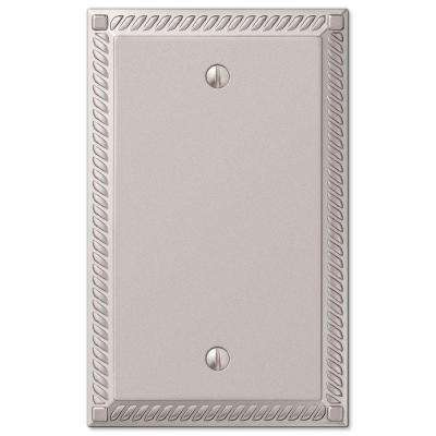 Georgian 1 Blank Wall Plate - Nickel