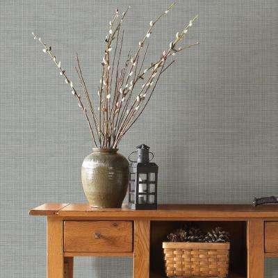 56.4 sq. ft. Kent Grey Grasscloth Wallpaper