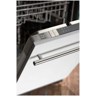 18 in. Top Control Dishwasher in White Matte with Stainless Steel Tub and Modern Style Handle