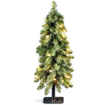 2 ft. Downswept Artificial Christmas Forestree with Clear Lights