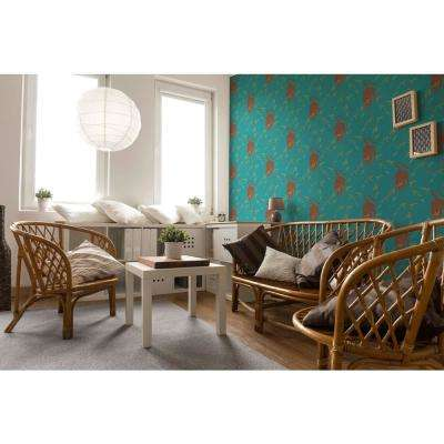 Nomad Collection Stalking Tiger in Jewel Removable and Repositionable Wallpaper