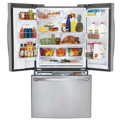 23.5 cu. ft. French Door Refrigerator in Printproof Stainless Steel, Counter Depth