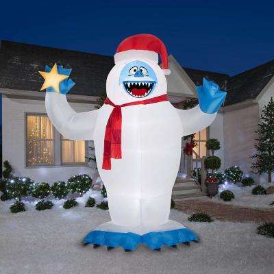 12 ft. Inflatable Bumble with Santa Hat