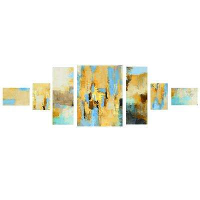 "32 in. x 81 in. ""Off Balance"" Printed Canvas Wall Art"