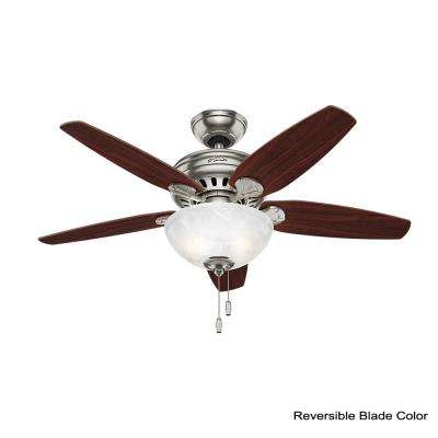 Cedar Park 44 in. Indoor Brushed Nickel Ceiling Fan with Light Kit