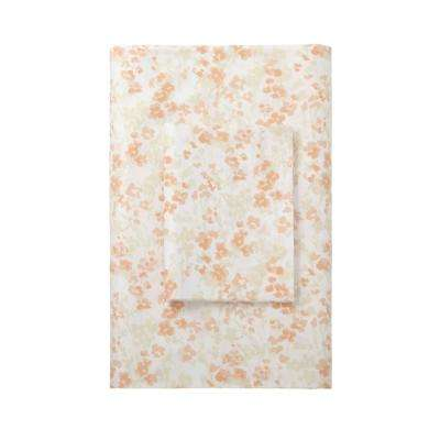 Shadow Floral Sateen 400 Thread Count Flat Sheet