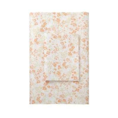 Shadow Floral Sateen 400 Thread Count Flat Sheet