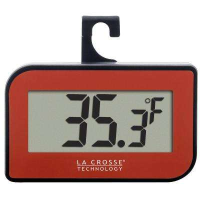 Small Red Digital Thermometer with Hook