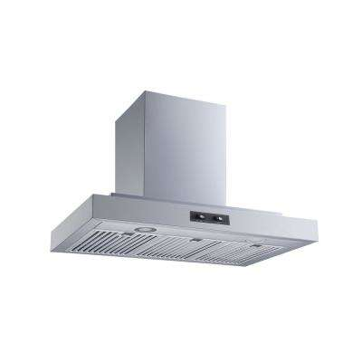 30 in. Convertible Wall Mount Range Hood in Stainless Steel with Baffle and Carbon Filters