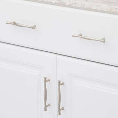 3-3/4 in. (96 mm) Center-to-Center Brushed Nickel Traditional Drawer Pull