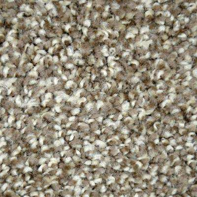 Carpet Sample - Refined Manner II - Color Sonoma Texture 8 in. x 8 in.