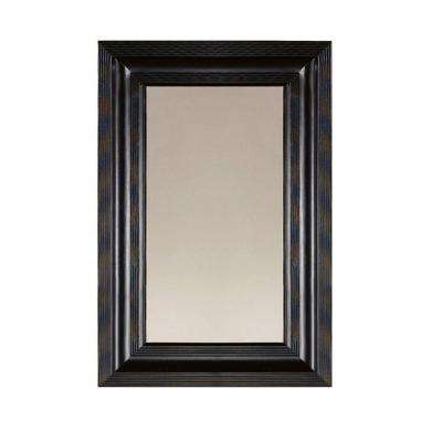 26 in. x 36 in. Larsson Carbon Black Framed Mirror