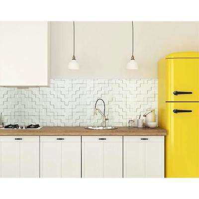 Harmony Cubes 24 in. x 24 in. Snow White PVC Wall Panel