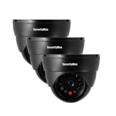 Indoor Dome Dummy Security Camera (3-Pack)