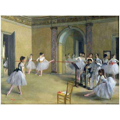"22 in. x 32 in. ""The Dance Foyer, 1872"" Canvas Art"