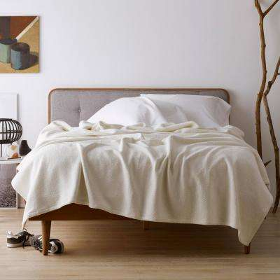 Organic Cotton Solid Woven Blanket