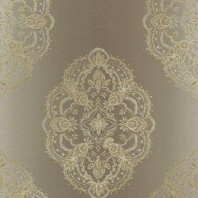 56 sq. ft. Mirador Taupe Global Medallion Wallpaper
