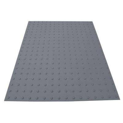 PowerBond 36 in. x 4 ft. Light Gray ADA Warning Mat (Peel and Stick)