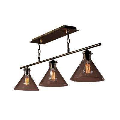 Edison Amerie Collection 3-Light Black Island Indoor Chandelier