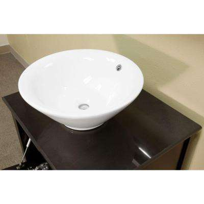 Rotterdam 26 in. Single Vanity in Black with Marble Vanity Top in Black