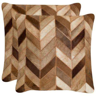 Marley Cowhide Pillow (2-Pack)