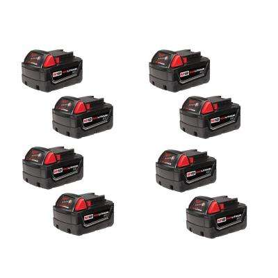 M18 18-Volt Lithium-Ion XC High Capacity Battery (8-Pack)