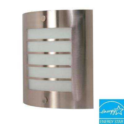 1-Light Brushed Nickel Fluorescent Wall Fixture
