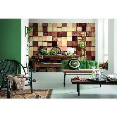 100 in. H x 145 in. W Lumbercheck Wall Mural