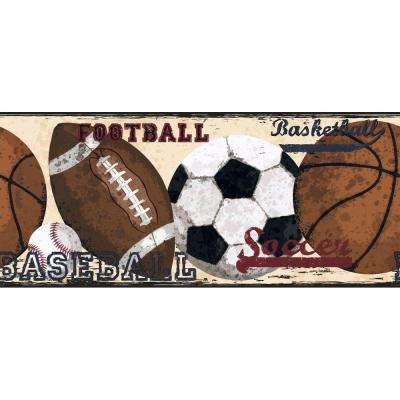 Candice Olson Kids Vintage Sports Wallpaper Border