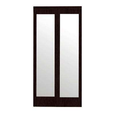 Mir Mel Espresso Mirror Matching Trim Solid Mdf Interior Sliding Door