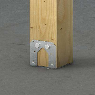 PB Galvanized Non-Standoff Post Base for 6x6 Nominal Lumber