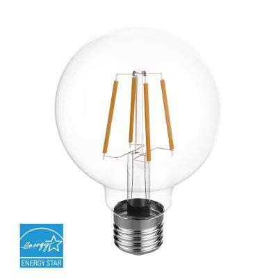 60W Equivalent Warm White (2700K) G25 Dimmable Clear LED Light Bulb