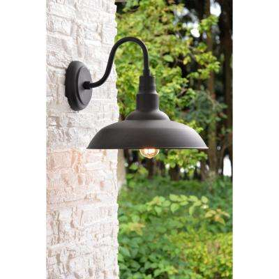Dale 1-Light Black Large Indoor/Outdoor Wall Mount Lantern