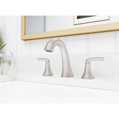 Ladera 8 in. Widespread 2-Handle Bathroom Faucet in Spot Defense Brushed Nickel
