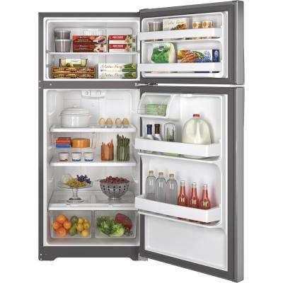 15.5 cu. ft. Top Freezer Refrigerator in Stainless Steel