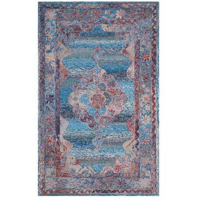 Vintage Oushak Blue 5 ft. x 8 ft. Area Rug