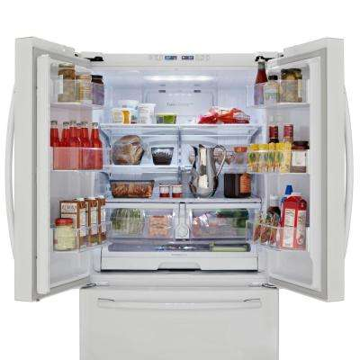 25.5 cu. ft. French Door Refrigerator in White
